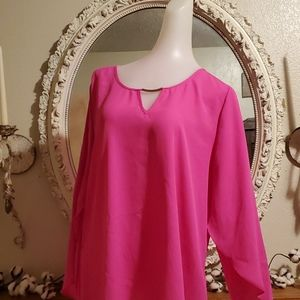 Counterparts Hot Pink Blouse #238